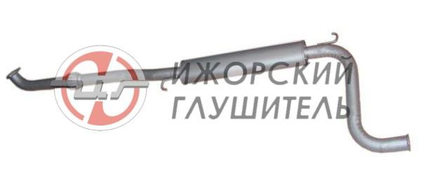 Глушитель дополнительный ВАЗ 1118,1117,1119 ( с гофрой) Арт.136088