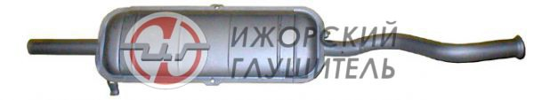 Глушитель основной ВАЗ 2108,2109 (штампосварной — 1 кожух) Арт.135521