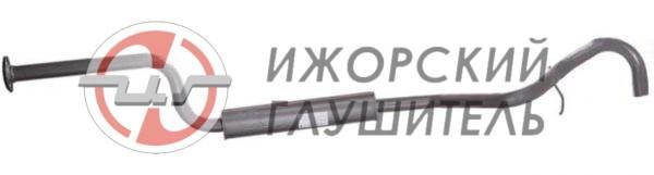 Глушитель дополнительный (резонатор) ВАЗ 2123 (Chevrolet Niva) ЕВРО-2 нового образца с 2003г. (без нейтрализатора) Арт.135982