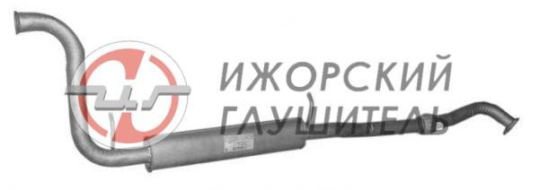 Глушитель дополнительный (резонатор) ВАЗ 2170,2171,2172 с гофрой Арт.136117