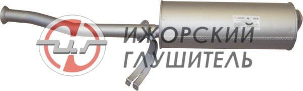 Глушитель основной УАЗ 3163,3162 (дв.409) до 2008г. с хомутом Арт.136209