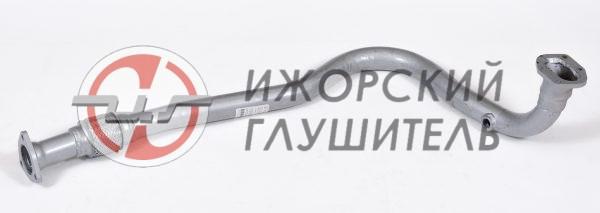 Труба приемная ВАЗ 2123 (Chevrolet Niva) ЕВРО-3 нового образца с 2008г. с отв. под датчик Арт.136277