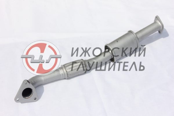 Труба приемная LIFAN X60 с заменителем катализатора, без отв. под датчик Арт.136371