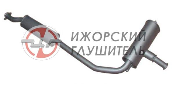 Глушитель+резонатор ВАЗ 1111 «ОКА» Арт.136085